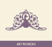 Peacock. Design element in art nouveau style Stock Images
