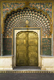 Peacock door in Jaipur, India Stock Photo