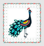 Peacock embroidery Stock Photography