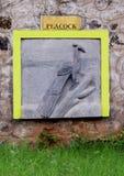 Peacock engraving Stock Photo
