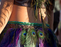 Peacock Feather Dance Skirt Royalty Free Stock Images