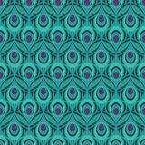 Peacock Feather Seamless Pattern for Giftwrap, Backdrop, Wallpaper royalty free illustration