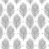 Peacock feathers, seamless pattern for your design vector illustration