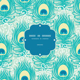 Peacock feathers vector frame seamless pattern Royalty Free Stock Photos