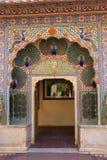 Peacock Gate in Pitam Niwas Chowk, Jaipur City Palace, Rajasthan Stock Photo