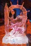 The peacock ice-lantern festival Stock Photo
