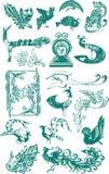 peacock illustration Stock Photography
