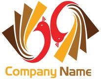 Peacock logo Stock Photo