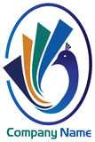 Peacock logo Stock Image
