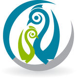 Peacock logo Stock Photo