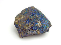 Peacock Ore, a variety of Chalcopyrite Stock Photography