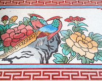 Peacock painting in traditional Chinese style Royalty Free Stock Photo