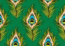 Free Peacock`s Tail Seamless Pattern 28 Stock Photo - 174101520