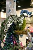 Peacock sculptural centerpiece Stock Photography