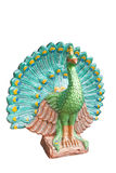 Peacock statue isolated on white background Stock Image