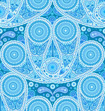 Peacock Tail Paisley Pattern Stock Image