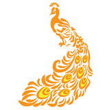 peacock Bird Animal vector design cartoon illustration abstract design silhouette Stock Photography