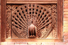 Peacock Window, Kumari Ghar, Durbar Square, Kathm Stock Photos