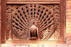 Peacock Window, Kumari Ghar, Durbar Square, Kathm stock photos