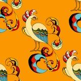 Peacocks background royalty free illustration