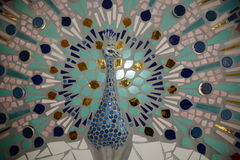Peafowl-Mosaik Stockfotografie