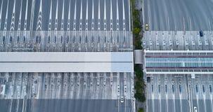 Peaje en una carretera Imagenes de archivo
