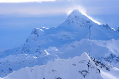 Peak. Elbrus, tops, peak of mountain snow and a strong wind stock images