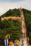 From The Peak. The End of Buddhist Lent Ceremony, Thailand Stock Images