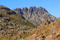 Peak Agulhas Negras (black needles) mountain landscape, Itatiaia Stock Photos