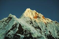Peak Alpamayo in Cordilleras Stock Image