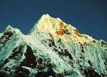 Peak Alpamayo in Cordilleras Stock Images