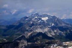 Peak of Alps, Tignes area, mountains in summer. Peak of Alps, Tignes area, mountains wiev in summer Royalty Free Stock Image