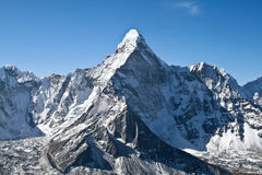 Peak of Ama Dablam mountain Stock Images