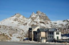 Peak Anayet above the frontera del Portalet Stock Photos