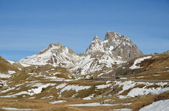 Peak Anayet in the Aragon Pyrenees Stock Photography