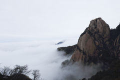 Peak appeared from the sea of clouds Stock Photography