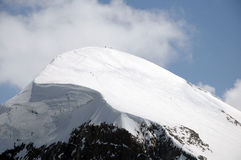 Peak of Breithorn seen from Klein Matterhorn Stock Images