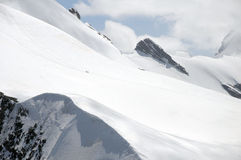 Peak of Breithorn seen from Klein Matterhorn Royalty Free Stock Photography