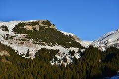 Peak of Bucegi Mountains seen from Padina Plateau. Stock Image