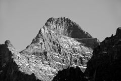 Peak in the Canadian Rockies Royalty Free Stock Photo