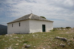 Peak Church of Kastro on Thassos Royalty Free Stock Photos