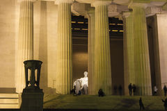 Peak into the Classical Central Chamber of the Lincoln Memorial, National Mall, Washington DC Royalty Free Stock Images