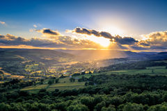 Peak District. A beautiful sunset on the Peak District Stock Photography