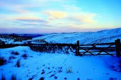 Dusk at Winnats Pass, Derbyshire, UK. Royalty Free Stock Images