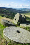 Peak District millstones at Stanage edge,  Derbyshire Royalty Free Stock Image