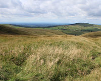Peak District National Park. A view of the rolling hills of the Peak District National Park from the Cat and Fiddle Pub, in Derbyshire, England Stock Image