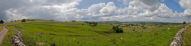 The Peak District panorama Royalty Free Stock Photos