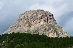 Peak of Dolomiti mountain Royalty Free Stock Photography