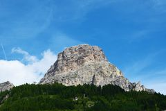 Peak in Dolomiti mountains Stock Photo