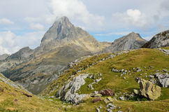 Peak du Midi d'Ossau in the Atlantic Pyrenees Stock Image